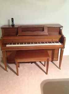 """Mason + Risch """"Imperial"""" upright Piano and Bench"""