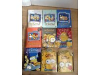 Job lot Simpson DVDs box sets
