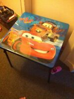 Disney cars fold up table and chairs