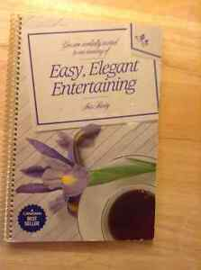 """EASY, ELEGANT ENTERTAINING"" COOKBOOK"