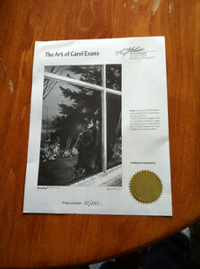 Carol Evans Signed Limited Edition Print for Cat Lovers - Moshe Prince George British Columbia image 2