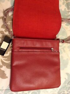 *REDUCED* New W/Tags Italian Red Leather Satchel Cambridge Kitchener Area image 3