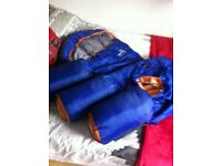 4 cocoon style sleeping bags