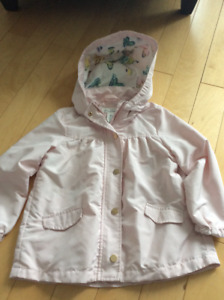 H and M girls pink spring coat size 4/5