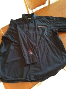 Chemise Harley homme noire manches longues grandeur 3XL Tall.