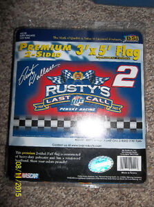 2003 Rusty Wallace flag, never opened Windsor Region Ontario image 1
