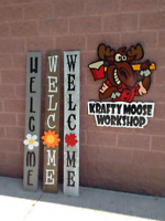 6' Porch welcome sign with 3D embellishment