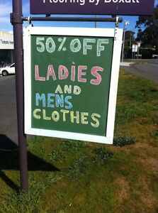 50% OFF ladies and men's clothes at Rummage in Midway Point. Midway Point Sorell Area Preview
