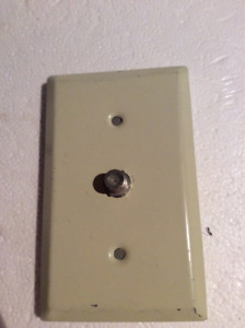 COAX CABLE/TELEPHONE JACK WALL PLATE /COAXIAL CABLES
