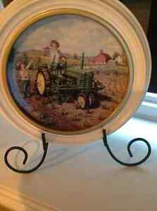 John Deer Collector plate with Display stand