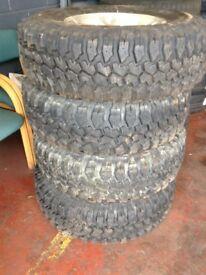 Off road 4x4 mud tyres