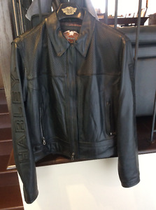 Manteau Harley-Davidson pour femme en cuir véritable grandeur LW