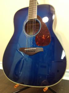 Blue Yamaha FG720S Acoustic Guitar