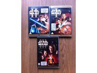 STAR WARS EPISODE 1, 2 & 3 DVDs