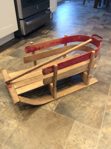 Antique Vintage Decorative Winter Sled Sleigh