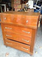 4 Drawer mid-century dresser- free delivery