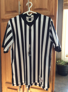 Official Basketball Referee's Jersey with attached Fox Whistle