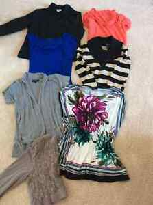 Assortment of tops and sweaters Sz sm-med