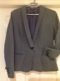 Next ladies grey suit with two pairs of trousers in regular and long.