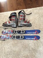 Men's ski blades and boots