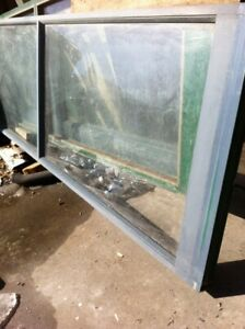 Used 9x8 glass aluminum door