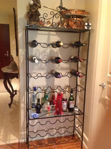 Étagère à vin en FER FORGÉ......30 bouteilles