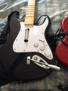 Xbox 360 guitar and ps2 guitar