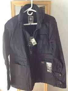 G-STAR FAEROES MILITARY JACKET BLUE BRACE DENIM - Size LARGE