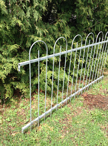 Solid (not tubing) galvanized fence