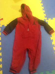 Cozy Jordan hooded one piece outfit 24 mths