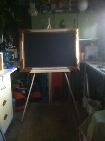 Traditional picture frame with chalkboard inset