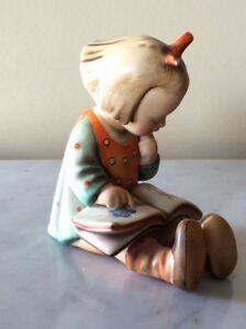Vintage Hummel figurine bookworm