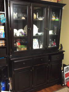 Maple Dining room Hutch