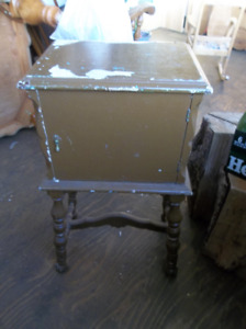 Antique solid wood small cabinet great piece for Shabby Chic