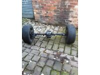 Reliant axle for trike. Disc brakes and alloys