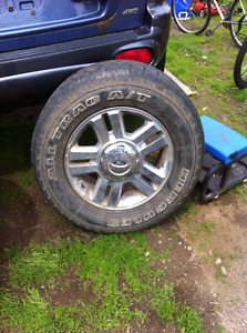 2 tires on ford rims 275 65 18