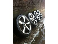 """BSA 17"""" alloy wheels 4x100 pcd £120 all used but in good condition"""