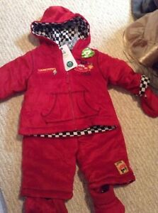 Brand new Disney cars size 6-12 months winter suit - $25