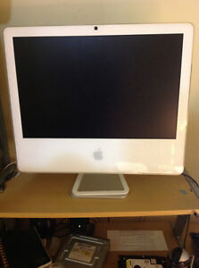 "20"" 2006 intel imac 2ghz model MA590xx/A For parts or repair"