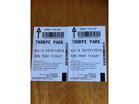 Thorpe Park Tickets 23/07/2016