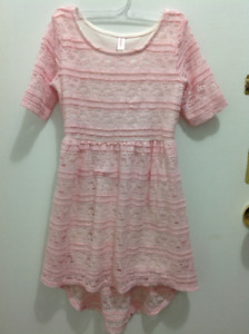 Very Elegant baby pink kids dress size 6X