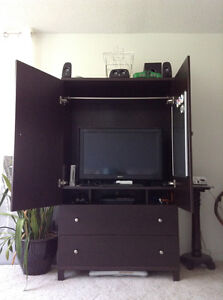 Wardrobe / Armoire or TV Cabinet - Dark Brown