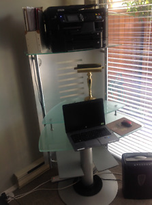 Glass Corner Computer Desk & Chair priced to sell quickly!!!