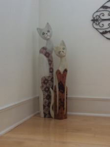 For the Cat Lover—Wooden Folk Art Cats!