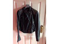 River island faux leather black jacket