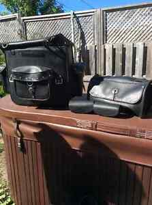 Valises Sissy barre, Leather luggage for sissy bar HD poaches