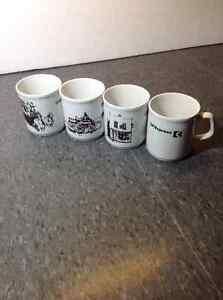 CP Rail -Canadian Pacific mug/cup set of 4
