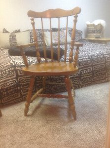 Two Solid Maple Captain Chairs FOR SALE