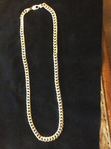 MENS HEAVY 10K GOLD CURB LINK NECKLACE/CHAIN 51 GRAMS