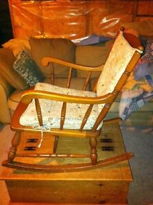 Solid wood rocking chair London Ontario image 1